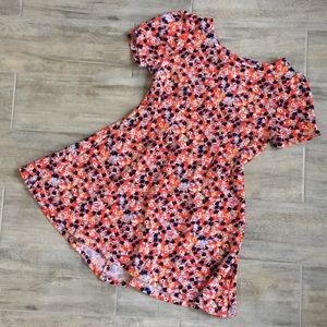 Copper Key fit and flare floral dress